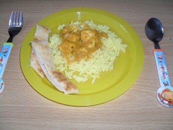 kids chicken curry