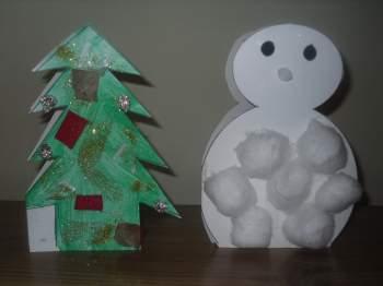 preschool christmas crafts cards