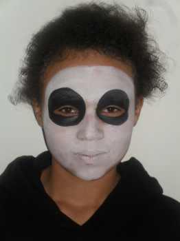 skeleton face painting