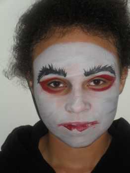 vampire face painting