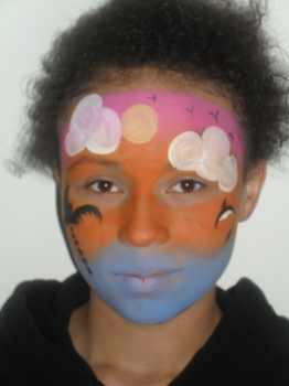tropical island face painting